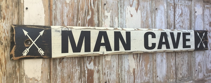 Rustic Man Cave Sign : Man cave rustic foot long wood sign great for mountain
