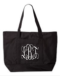 Large Bay View Zipper Tote Bags