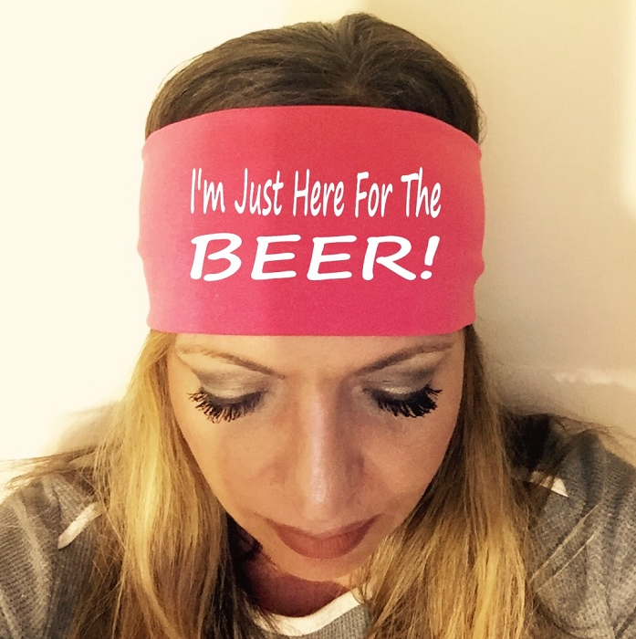 I M Just Here For The Beer Headband Fashion Headbands