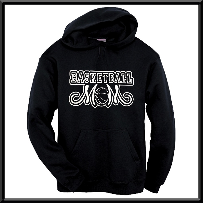 757352b64 Basketball Mom Hoodie With Option To Personalize With Childs Name and Number