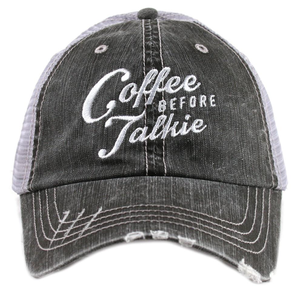 9f09947f2bbfb Coffee Before Talkie. Women s Trucker Hat