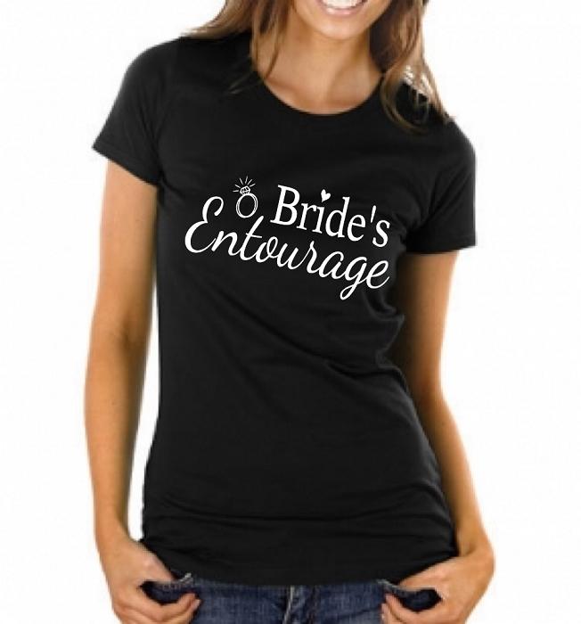 Bride\'s Entourage. Ladies Fit T-Shirt Wedding Shirts Bridal Party ...