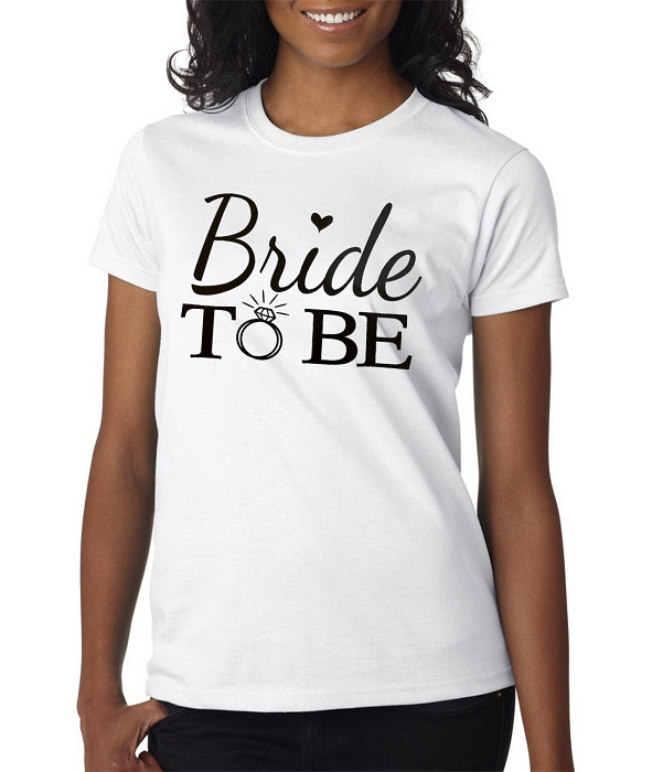 Bride To Be Ladies Fit T-Shirt Wedding Shirts Bridal Party
