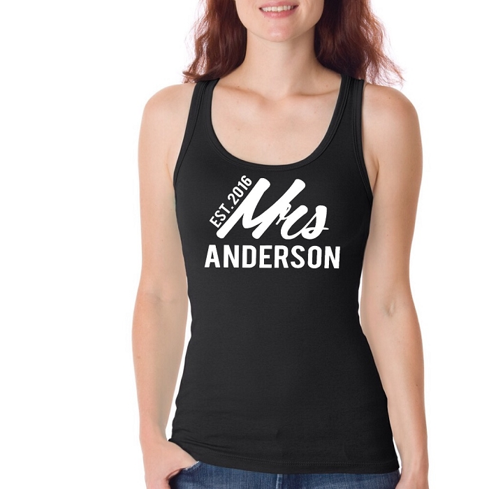 0900325a4b Personalized Mrs. and Year Established Custom Jersey Tank Top for ...