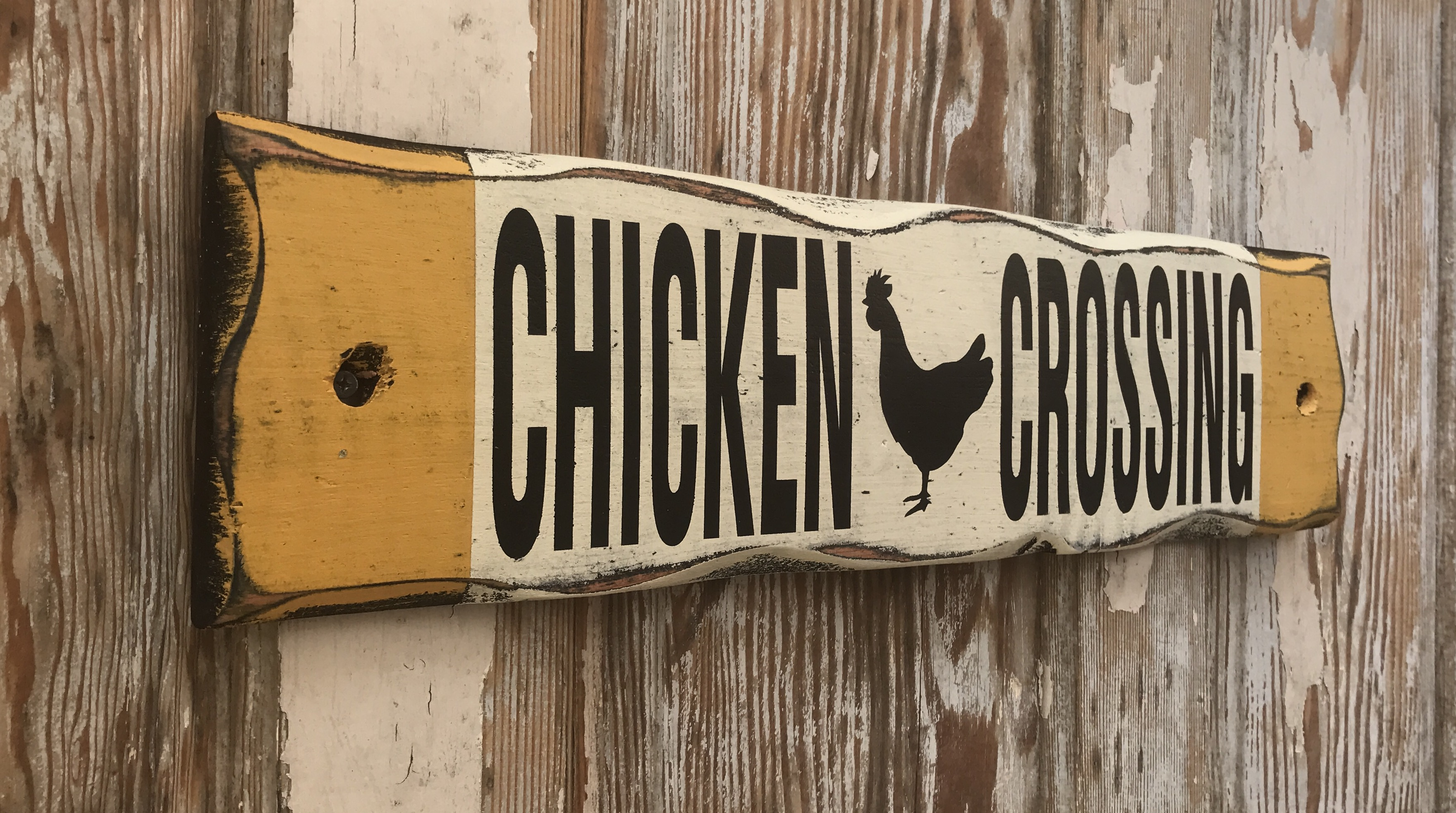 Chicken Crossing Rustic Wood Sign Great For Chicken