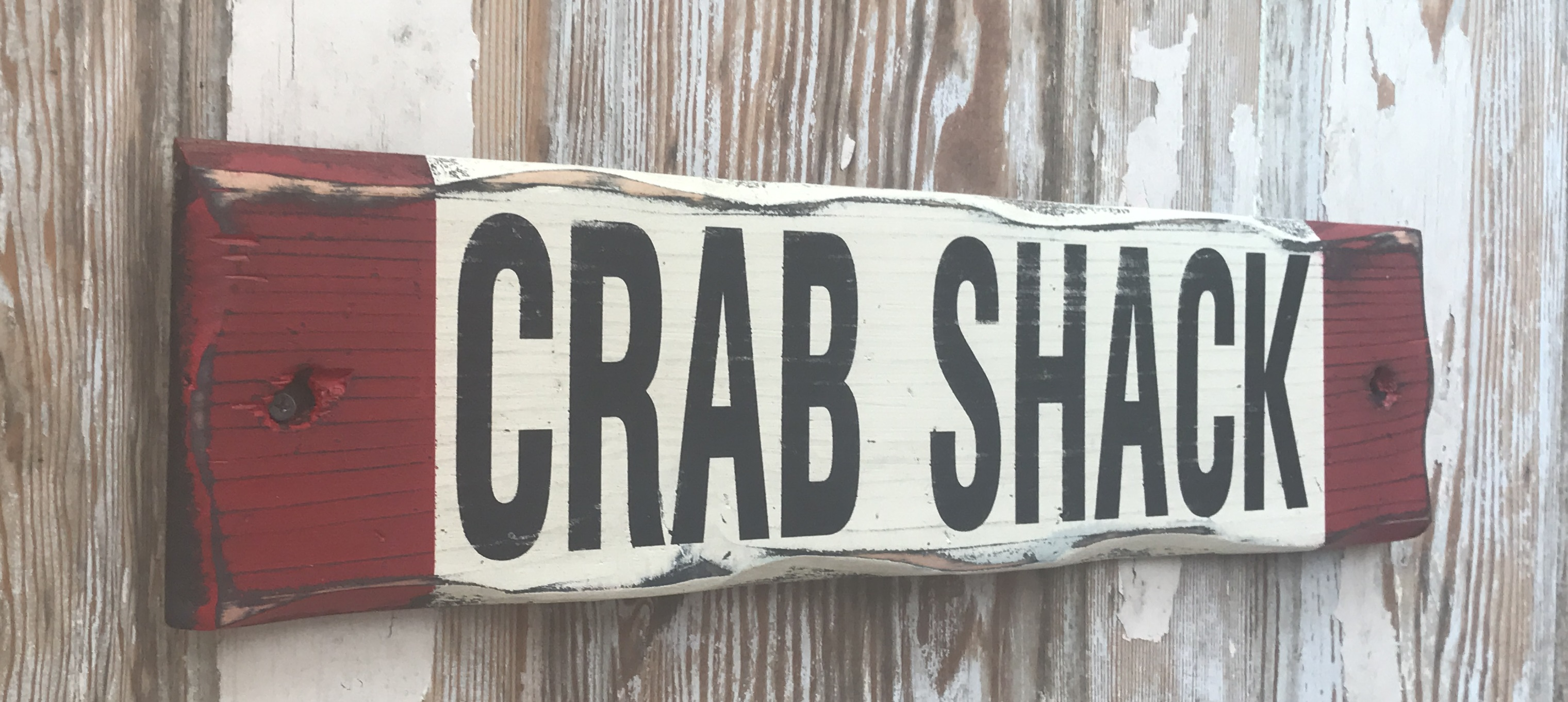 Crab Shack Rustic Wood Sign Great For Lake House Beach