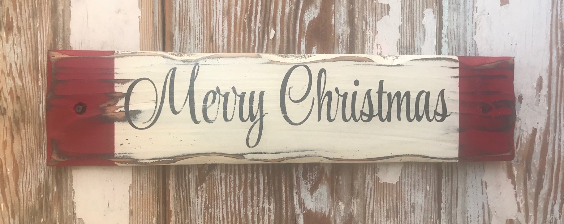 merry christmas rustic wood sign