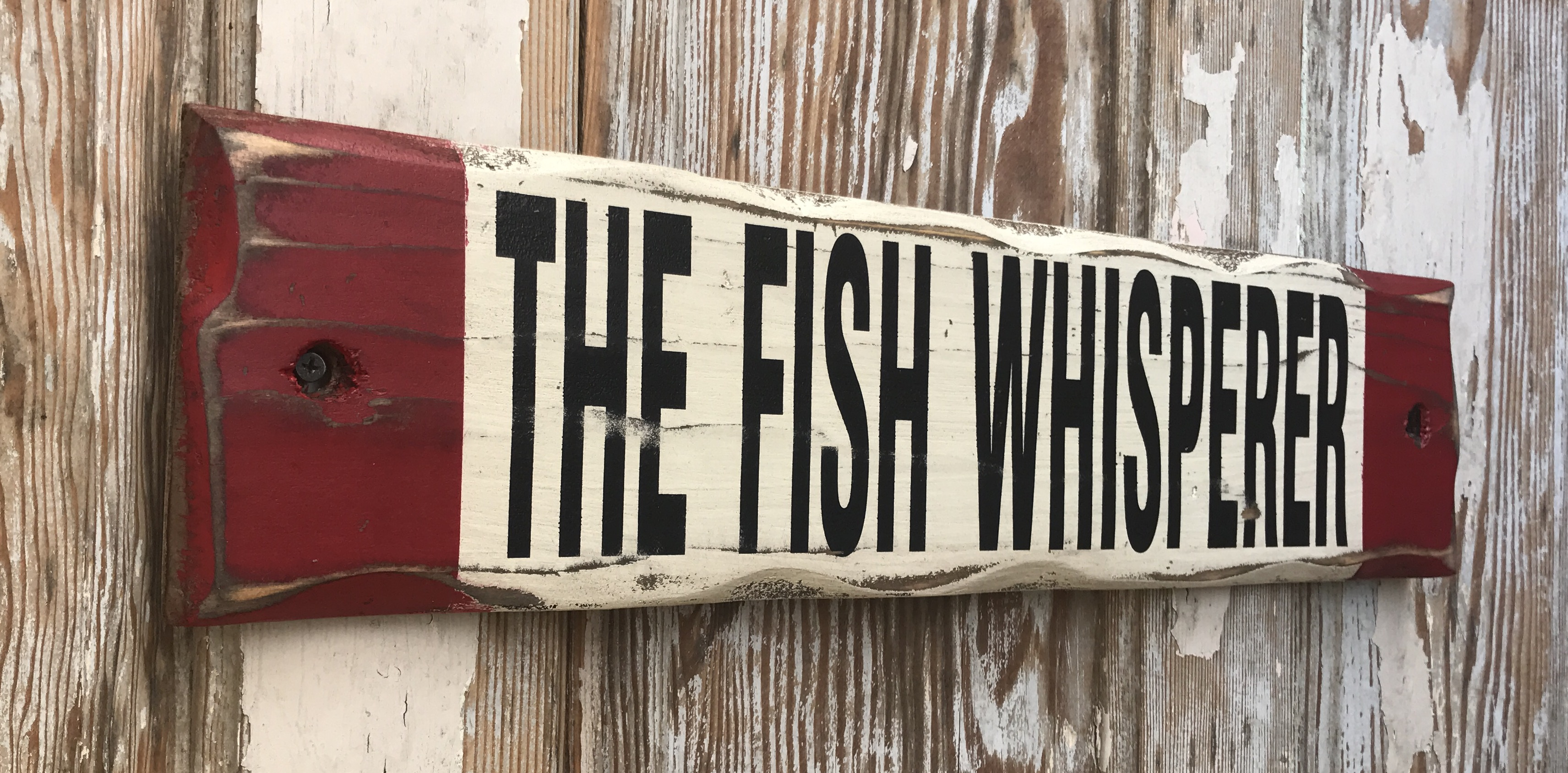 The fish whisperer rustic wood sign distressed sign for The fish whisperer