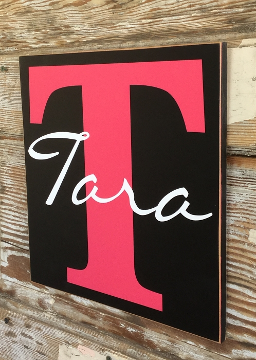 Custom Monogram Sign With Initial Name Wood Sign