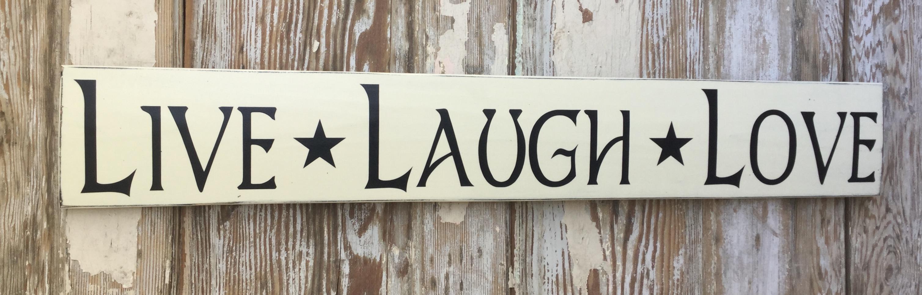 live laugh love wood sign. Black Bedroom Furniture Sets. Home Design Ideas
