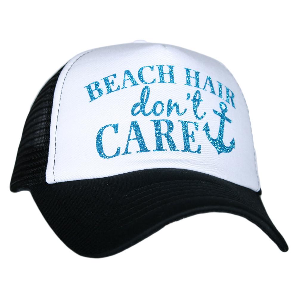 Beach Hair Don t Care. Trucker Hat ae3aa5b0438