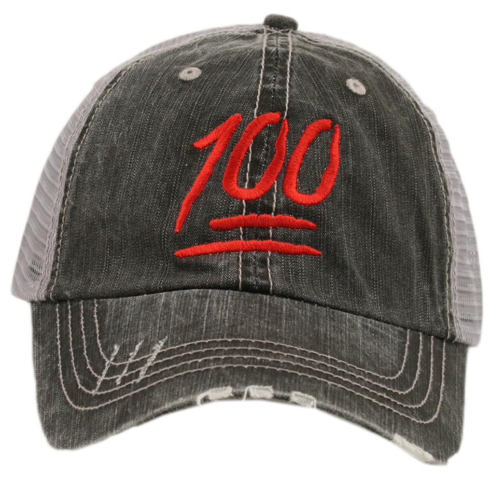 04073488 OEM Society 100 Points Emoji. Women's Trucker Hat