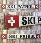 Ski Patrol.  Rustic 4 Foot Long Wood Sign
