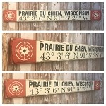 Custom GPS Coordinates With City & State Sign.  Rustic 4 Foot Long Wood Sign.