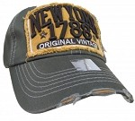 Bling Hat with New York 1788 Embellishments in Olive
