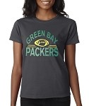 Green Bay Packers Football.  Ladies T-Shirt
