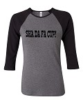 Sha Da Fa Cup!  Bella Brand Three Quarter Sleeve Tee