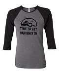 Time To Get Your Beach On.  Bella Brand Three Quarter Sleeve Tee
