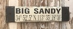 Big Sandy GPS Coordinates Rustic Sign