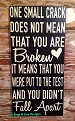 One Small Crack Does Not Mean That You Are Broken It