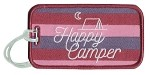 Happy Camper.  Luggage Tag