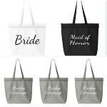 Bride, Maid of Honor & Bride's Entourage Zipper Tote Bag