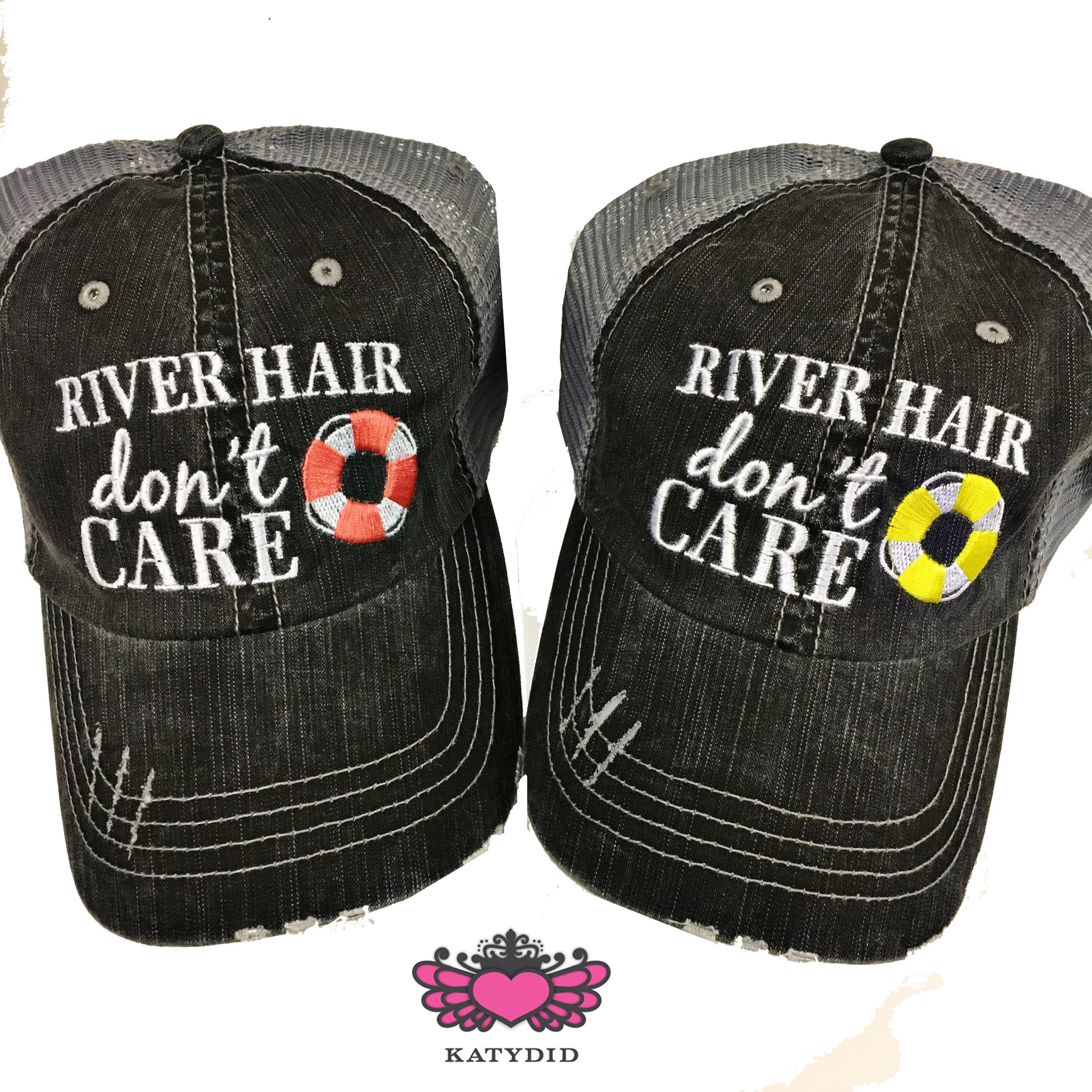 River Hair Don't Care.  Women's Trucker Hat