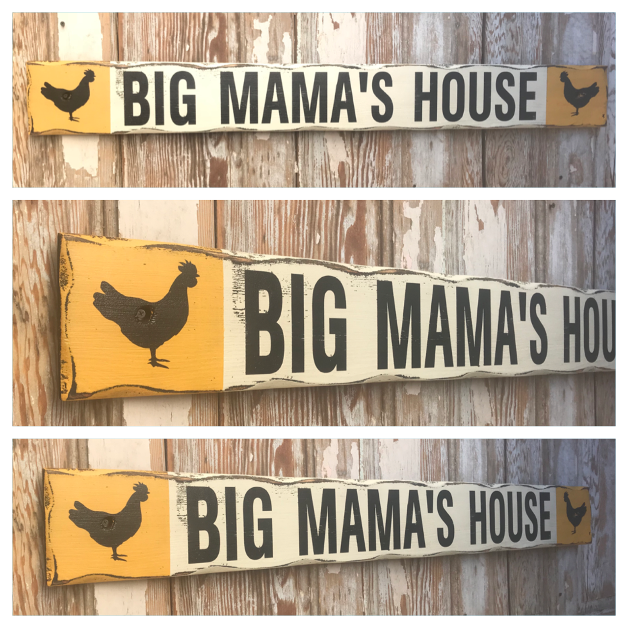 Big Mama's House.  Rustic 4 Foot Long Wood Sign