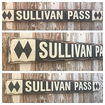 Custom Ski Sign.  Rustic 4 Foot Long Wood Sign