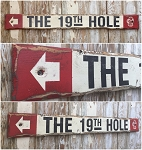 The 19th Hole.  Rustic 4 Foot Long Golf Wood Sign
