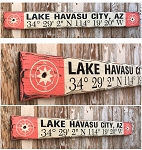 Custom GPS Coordinates Sign.  Rustic 4 Foot Long Wood Sign.