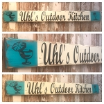 Personalized Outdoor Kitchen Rustic 4 Foot Long Wood Sign