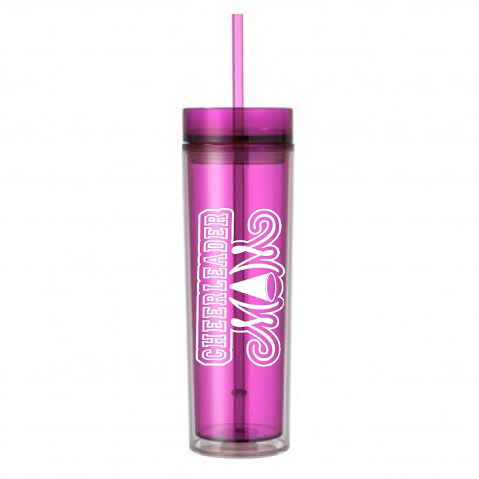 Cheerleader Mom.  16 ounce Tumbler