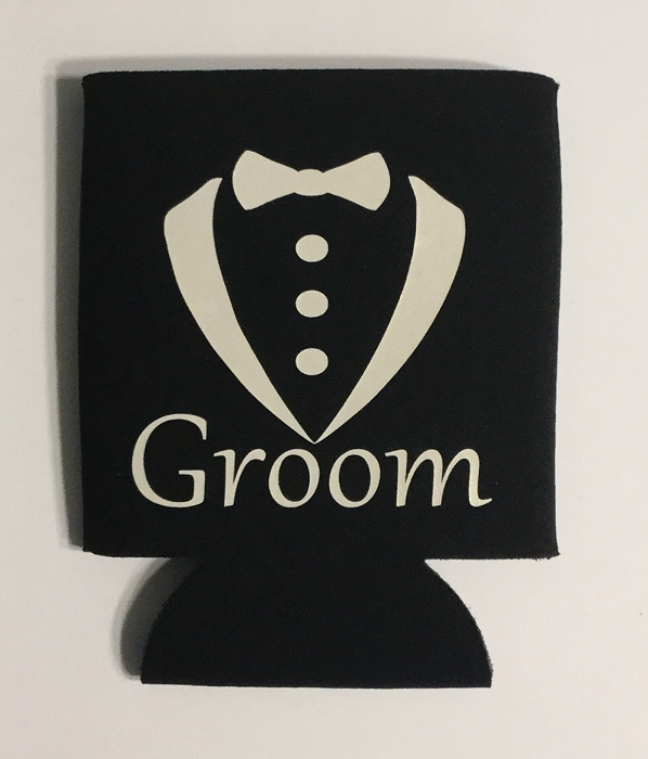 Groom.  Collapsible Can Cooler / Coozie