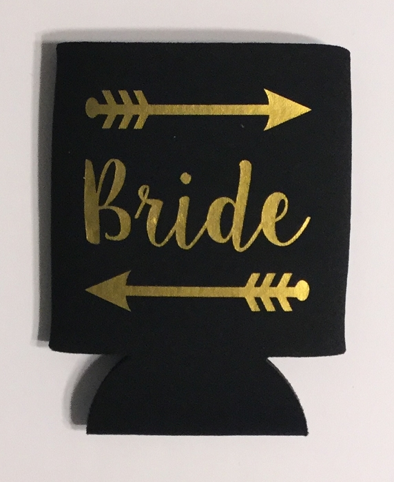 Bride.  Collapsible Can Cooler / Coozie