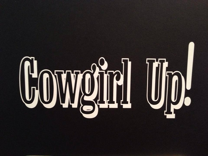 Cowgirl Up!  Vinyl Decal