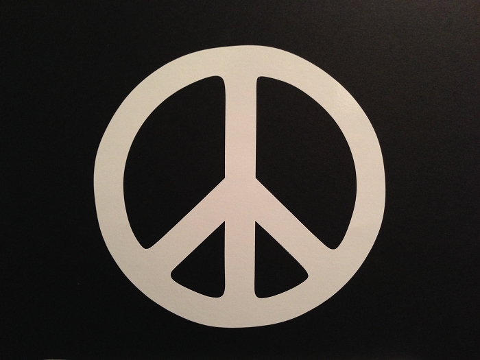 Peace Sign.  Vinyl Decal