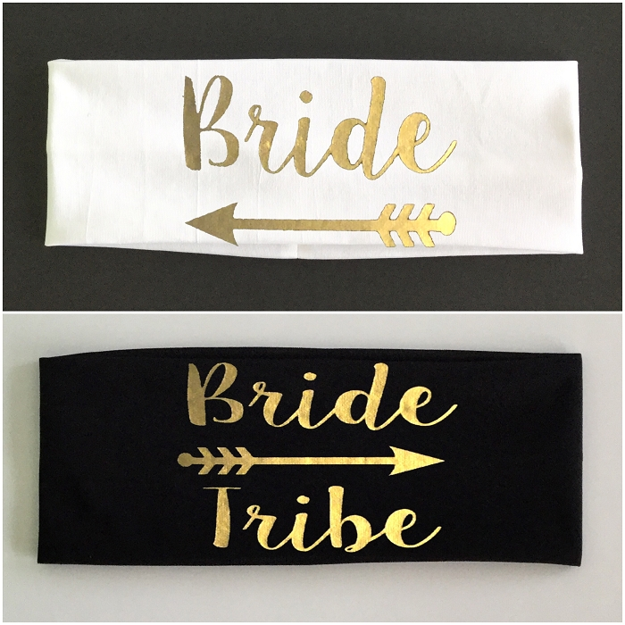 Bride & Bride Tribe.  Matching Bridal Party Headband