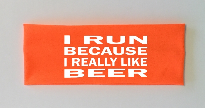 I Run Because I Really Like Beer.  Headband