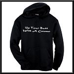 Up Your Butt With A Coconut.  Funny Hoodie