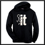 Fuck It!  Stick Figure.  Hoodie