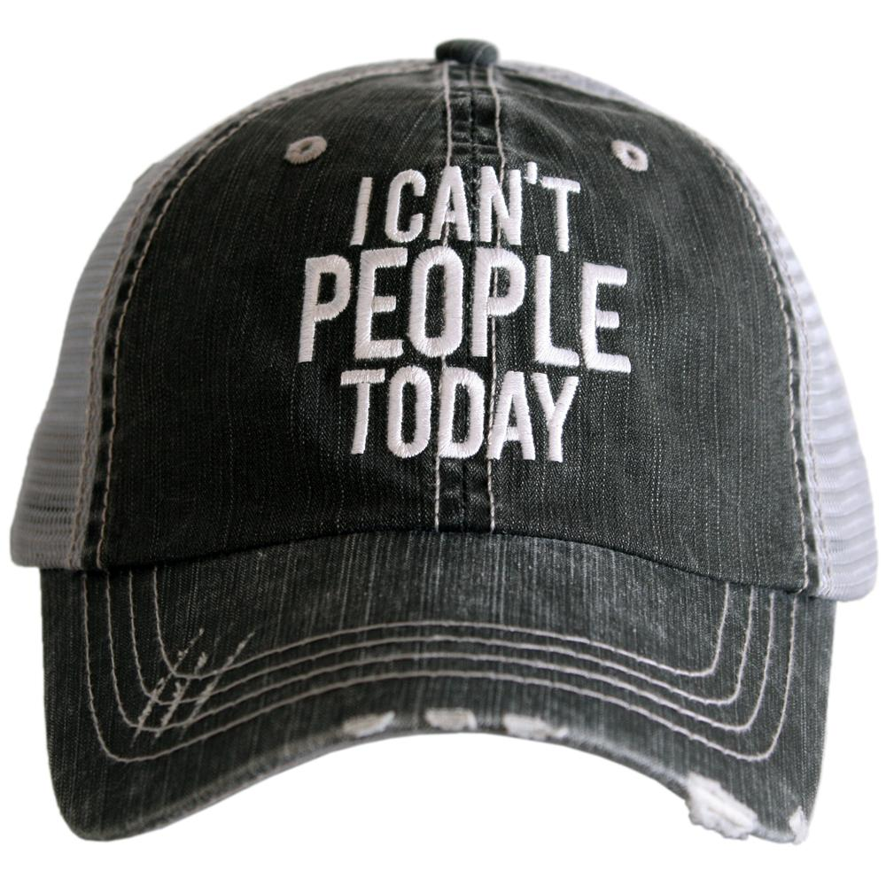 I Can't People Today.  Women's Trucker Hat