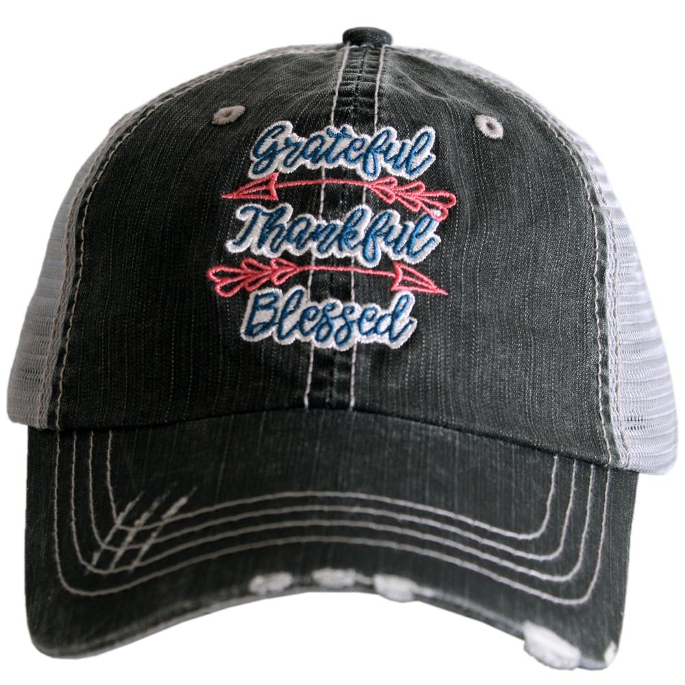 Grateful, Thankful, Blessed.  Women's Trucker Hat