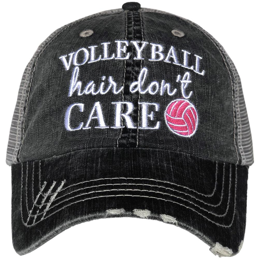 Volleyball Hair Don't Care.  Women's Trucker Hat