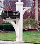 Mailbox Decal With Street Address Left Justified
