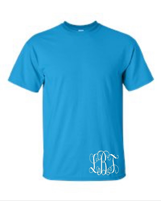 Monogrammed Men's Universal Fit T-Shirt with Monogram on Bottom Left