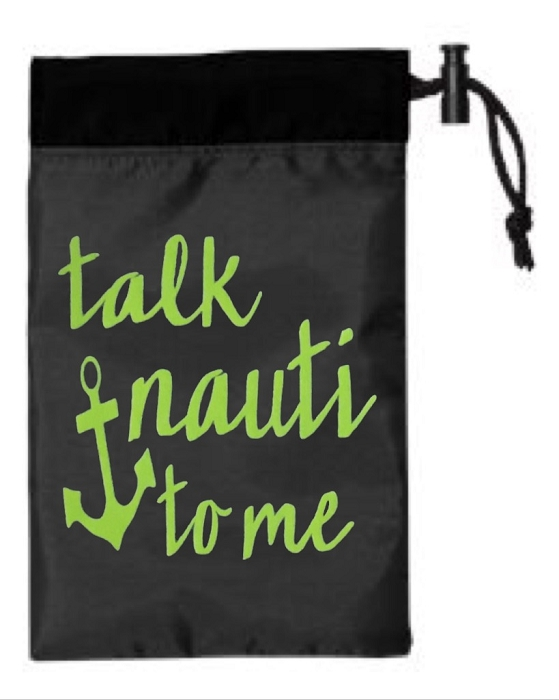 Talk Nauti To Me.  Cinch Tote
