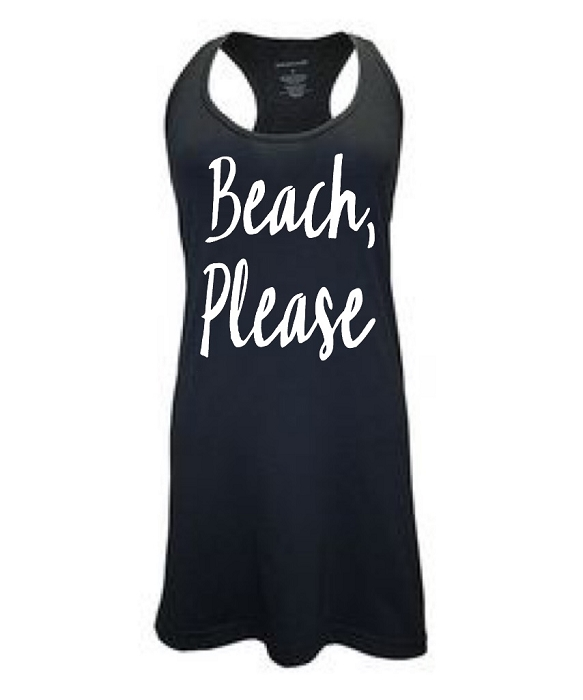 Beach, Please.  Racer Back Swim Suit Cover Up
