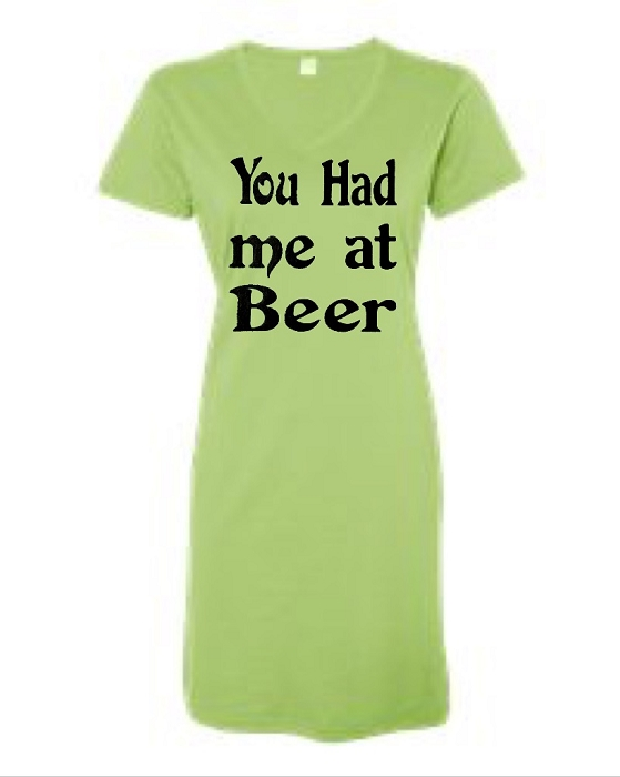 You Had Me At Beer.  V-Neck Swim Suit Cover Up