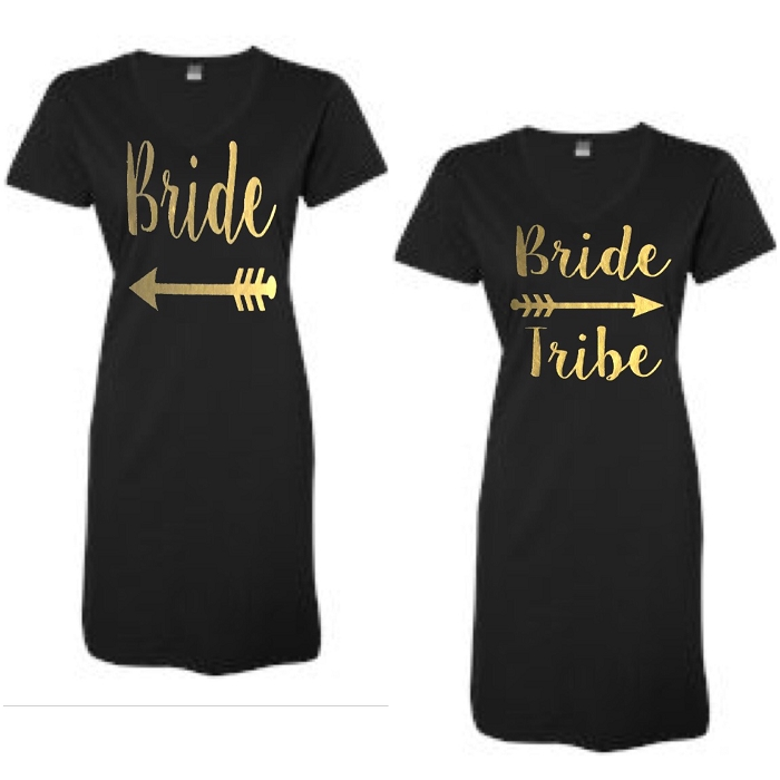 Bride & Bride Tribe.  Matching Bridal Party V-Neck Swim Suit Cover Up